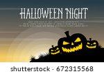 halloween with pumpkin... | Shutterstock .eps vector #672315568