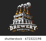 box beer logo  vector... | Shutterstock .eps vector #672322198