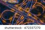 aerial view interchange of city ... | Shutterstock . vector #672337270
