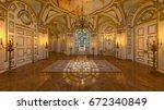 3d cg rendering of the hall | Shutterstock . vector #672340849