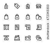 shopping concept   icon... | Shutterstock .eps vector #672343303
