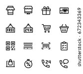 miscellaneous shopping icons  ... | Shutterstock .eps vector #672343369
