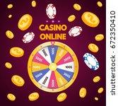 internet casino. spinning... | Shutterstock .eps vector #672350410