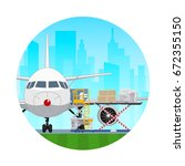 air cargo services and freight  ...   Shutterstock .eps vector #672355150