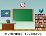 vector illustration of school... | Shutterstock .eps vector #672356908