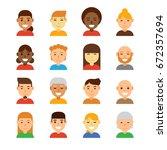 people avatar vector...   Shutterstock .eps vector #672357694