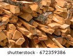 Pile of firewood. preparation...