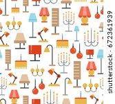 lighting accessories seamless...   Shutterstock .eps vector #672361939