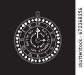 alice in wonderland circle...   Shutterstock . vector #672368356