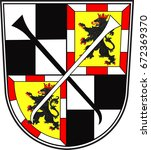 coat of arms of bayreuth is a... | Shutterstock .eps vector #672369370