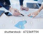 human resource management  hr ... | Shutterstock . vector #672369754