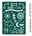 laser cut template for planner... | Shutterstock .eps vector #672376504