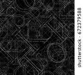 font seamless pattern on a... | Shutterstock . vector #672379588