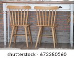 Wooden Bar Stool And Kitchen...