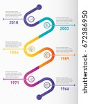 vertical infographic timeline.... | Shutterstock .eps vector #672386950