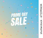 sale prime day sale. banner...   Shutterstock .eps vector #672390634