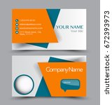 business card set template for...   Shutterstock .eps vector #672393973