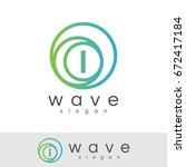 wave initial letter i logo... | Shutterstock .eps vector #672417184