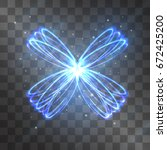 butterfly light effect. vector... | Shutterstock .eps vector #672425200