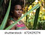 melanesian pacific islander... | Shutterstock . vector #672429274