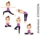 set of vector girl characters...   Shutterstock .eps vector #672432256