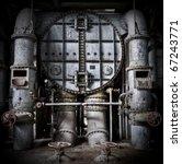 massive metal construction an...
