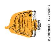 bright tropical sea fish  ...   Shutterstock .eps vector #672440848