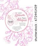 invitation bridal shower card... | Shutterstock .eps vector #672441439
