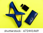 accessories in formal style... | Shutterstock . vector #672441469