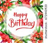 wildflower fritillaria... | Shutterstock . vector #672443920