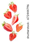 set of delicious strawberry... | Shutterstock . vector #672444796