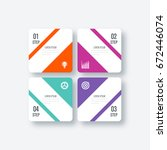 business infographics template... | Shutterstock .eps vector #672446074