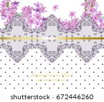 summer flowers blossom lace... | Shutterstock .eps vector #672446260