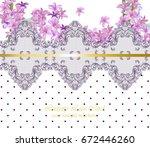 summer flowers blossom lace... | Shutterstock .eps vector #672446260