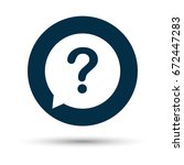 question mark sign icon. help... | Shutterstock .eps vector #672447283