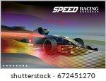 poster advertising for cars ... | Shutterstock .eps vector #672451270