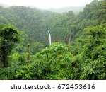 Landscape Waterfall In Costa...