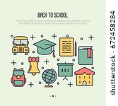 back to school concept with... | Shutterstock .eps vector #672458284