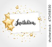 gold shine star invitation ... | Shutterstock .eps vector #672458530