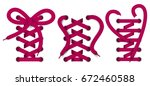 set of color realistic lace... | Shutterstock .eps vector #672460588