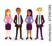 business people  group  flat | Shutterstock .eps vector #672461386