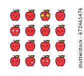Cute Apple Emoticons