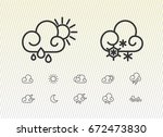 weather icons | Shutterstock .eps vector #672473830