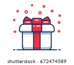 gift box icon  special present... | Shutterstock .eps vector #672474589