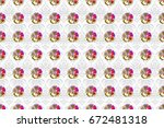 in beige and pink colorsvc... | Shutterstock . vector #672481318