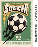 soccer tournament vector poster ...   Shutterstock .eps vector #672491653