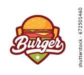 burger logo | Shutterstock .eps vector #672501460