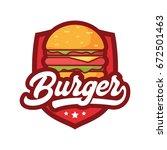burger logo   Shutterstock .eps vector #672501463