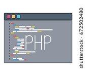 color silhouette of programming ... | Shutterstock .eps vector #672502480