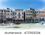 venice  veneto   italy. may 21  ... | Shutterstock . vector #672503236